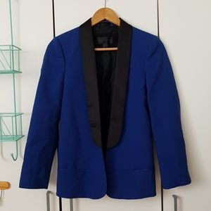Royal blue tuxedo blazer